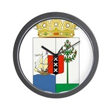 Curacao Coat Of Arms Wall Clock