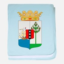 Curacao Coat Of Arms baby blanket