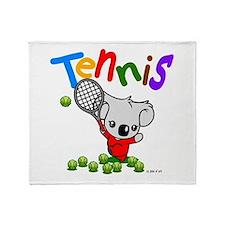 Tennis Koala Bear Throw Blanket