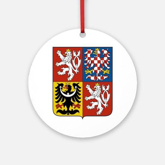 Czech Republic Coat Of Arms Ornament (Round)