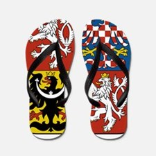 Czech Republic Coat Of Arms Flip Flops