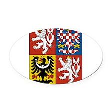 Czech Republic Coat Of Arms Oval Car Magnet