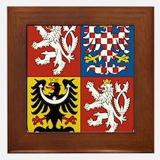 Czech Republic Coat Of Arms Framed Tile