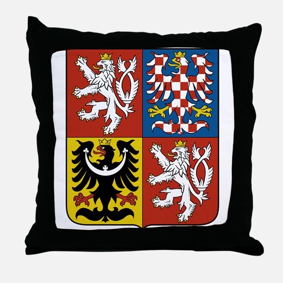 Czech Republic Coat Of Arms Throw Pillow
