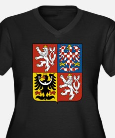 Czech Republic Coat Of Arms Women's Plus Size V-Ne