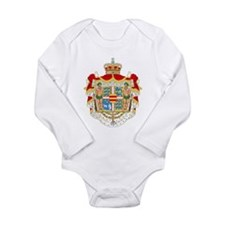 Royal Denmark Coat Of Arms Long Sleeve Infant Body