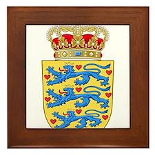 Denmark Coat Of Arms Framed Tile