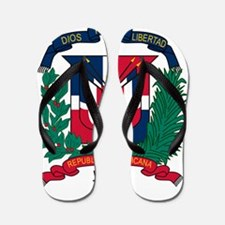Dominican Republic Coat Of Arms Flip Flops
