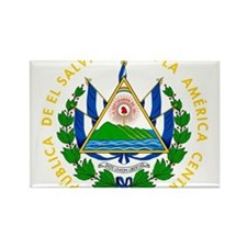 El Salvador Coat Of Arms Rectangle Magnet