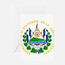El Salvador Coat Of Arms Greeting Card