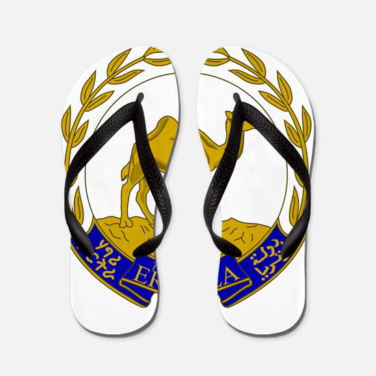 Eritrea Coat Of Arms Flip Flops