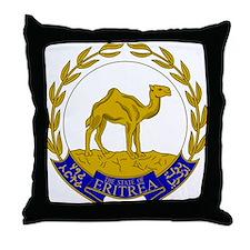 Eritrea Coat Of Arms Throw Pillow