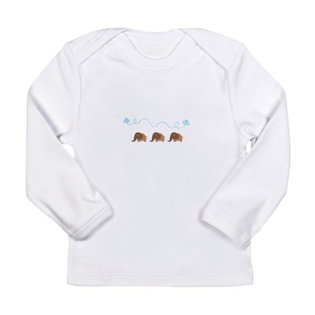 Elephants Butterflies Long Sleeve Infant T-Shirt