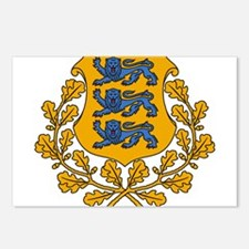 Estonia Coat Of Arms Postcards (Package of 8)