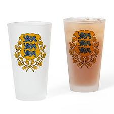 Estonia Coat Of Arms Drinking Glass
