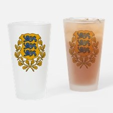 Estonia Coat Of Arms Drinking Glass