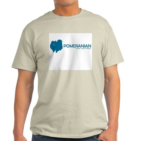 "Pomeranian ""One Cool Dog"" Ash Grey T-Shirt"