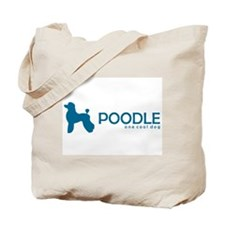 """Poodle """"One Cool Dog"""" Tote Bag"""