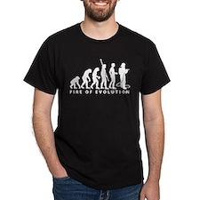 Evolution Feuerwehr 2c black.png T-Shirt
