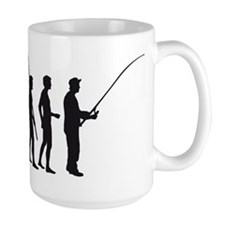 Evolution Fishing.png Mug