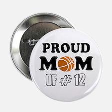 "Cool Basketball Mom Designs 2.25"" Button"