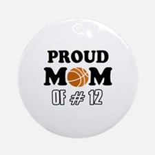 Cool Basketball Mom Designs Ornament (Round)