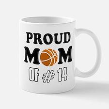 Cool Basketball Mom of number 14 Mug