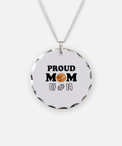 Cool Basketball Mom of number 14 Necklace