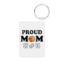 Cool Basketball Mom of number 14 Aluminum Photo Ke