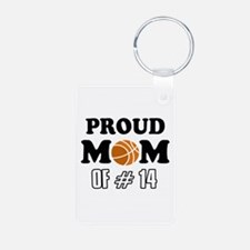 Cool Basketball Mom of number 14 Keychains