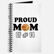 Cool Basketball Mom of number 14 Journal