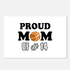 Cool Basketball Mom of number 14 Postcards (Packag