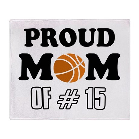 Cool Basketball Mom of number 15 Throw Blanket