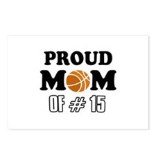 Cool Basketball Mom of number 15 Postcards (Packag