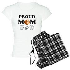 Cool Basketball Mom of number 16 Pajamas
