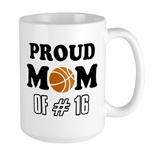Cool Basketball Mom of number 16 Mug