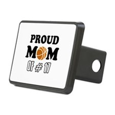 Cool Basketball Mom of number 17 Hitch Cover