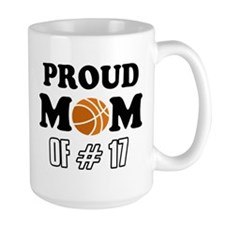 Cool Basketball Mom of number 17 Mug