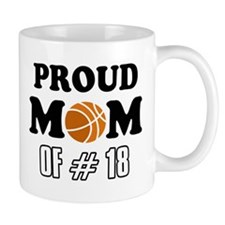 Cool Basketball Mom of number 18 Mug