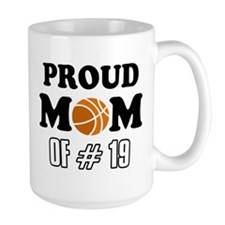 Cool Basketball Mom of number 19 Mug