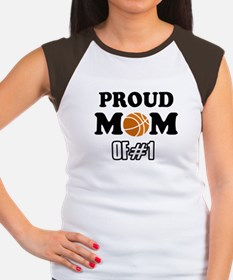 Cool Basketball Mom of number 1 Women's Cap Sleeve