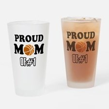 Cool Basketball Mom of number 1 Drinking Glass