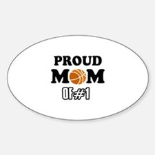 Cool Basketball Mom of number 1 Sticker (Oval)