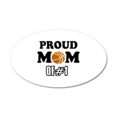 Cool Basketball Mom of number 1 Wall Decal