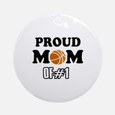 Cool Basketball Mom of number 1 Ornament (Round)