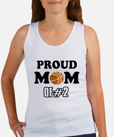 Cool Basketball Mom of number 2 Women's Tank Top