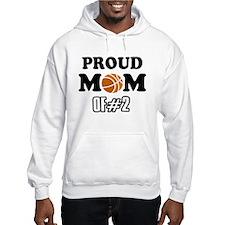 Cool Basketball Mom of number 2 Hoodie