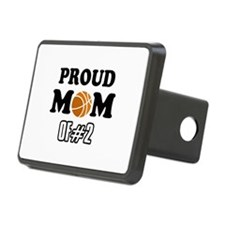 Cool Basketball Mom of number 2 Hitch Cover