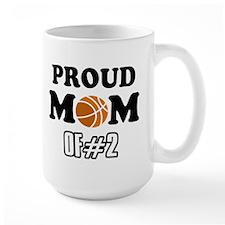 Cool Basketball Mom of number 2 Mug