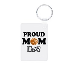 Cool Basketball Mom of number 2 Keychains